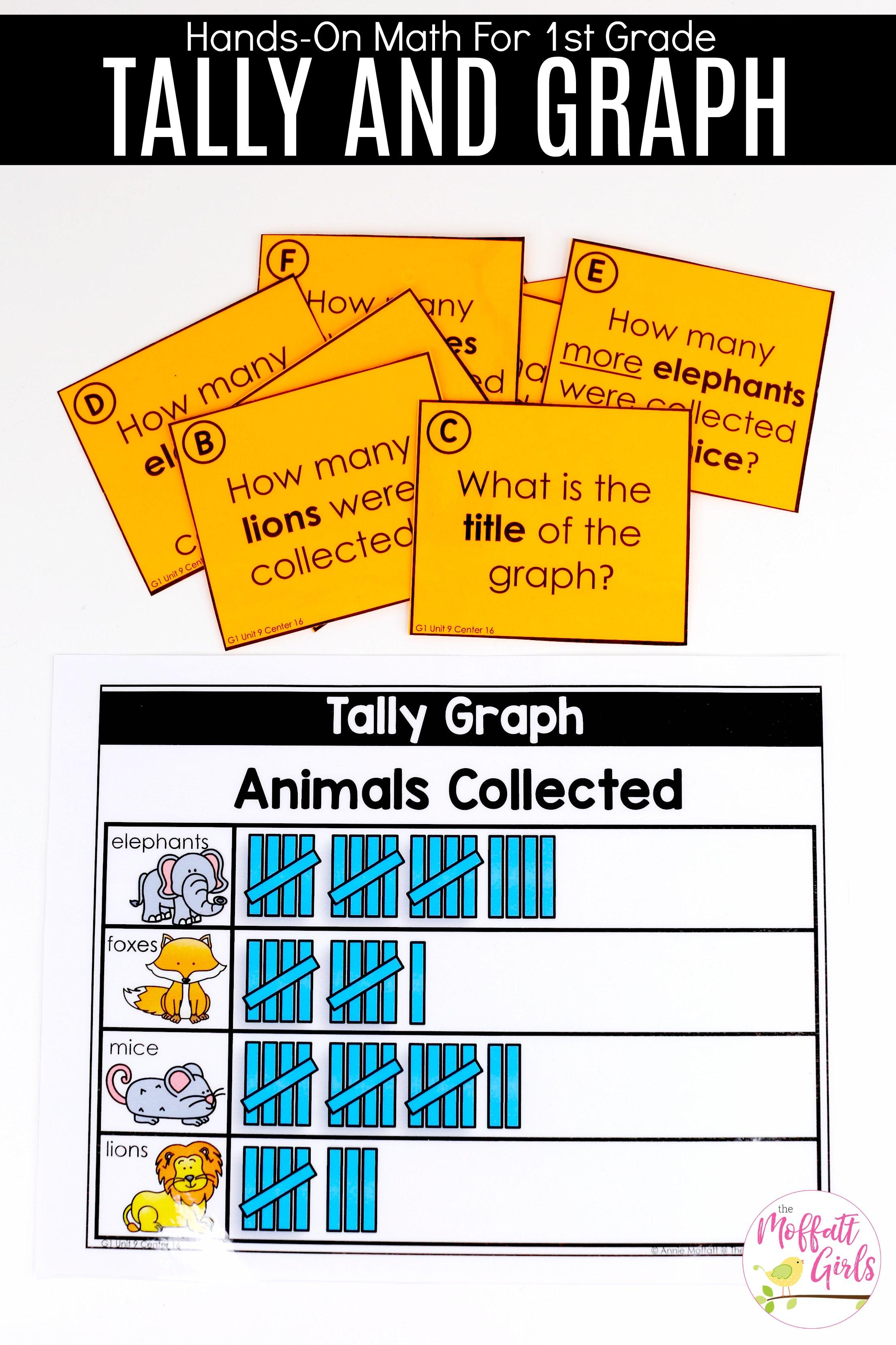 Tally Chart Animals Collected First Grade Math 1b