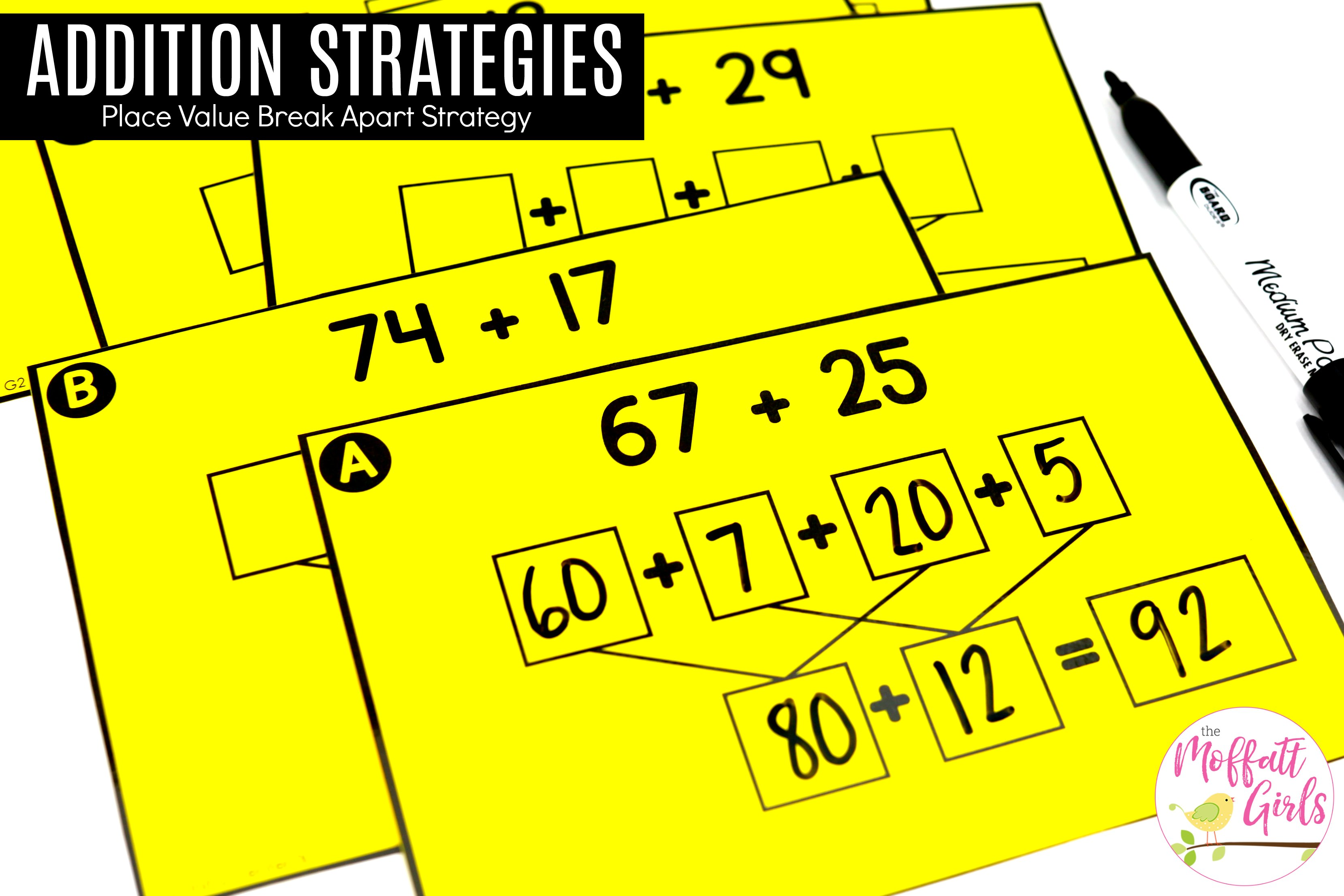 30 Addition With The Break Apart Strategy 1b