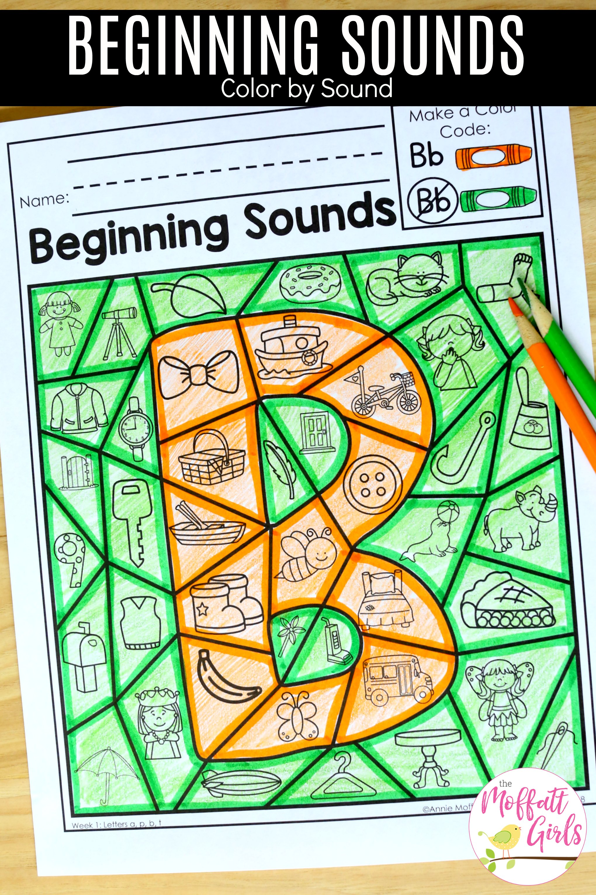 Beginning Sounds Color Cut And Paste Worksheet