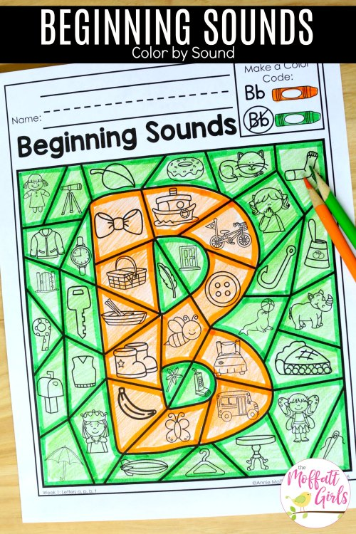 small resolution of Beginning Sounds Color