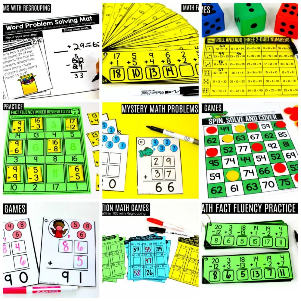 medium resolution of Addition and Subtraction Fluency up to 100 for 2nd Grade