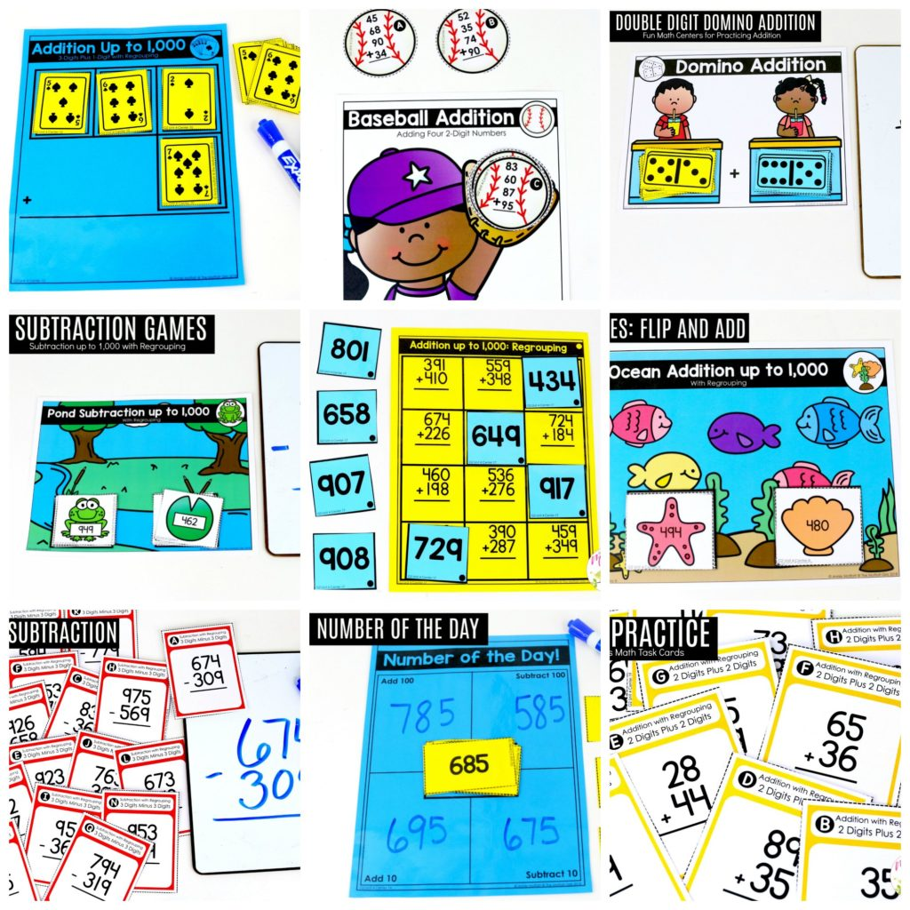 Second Grade Addition And Subtraction Of 2 Digit And 3 Digit Numbers