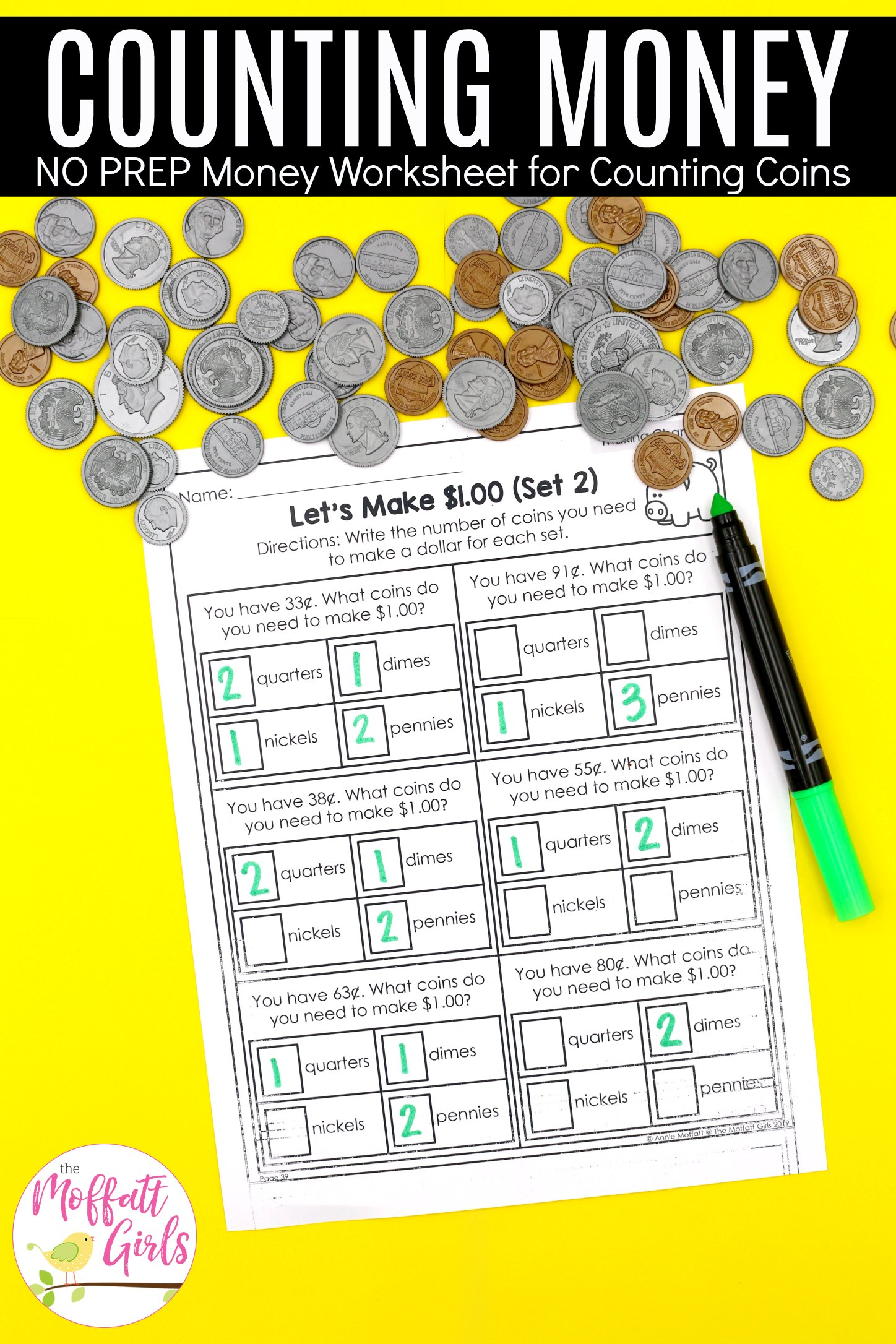 Money Worksheets 2nd Grade 1b