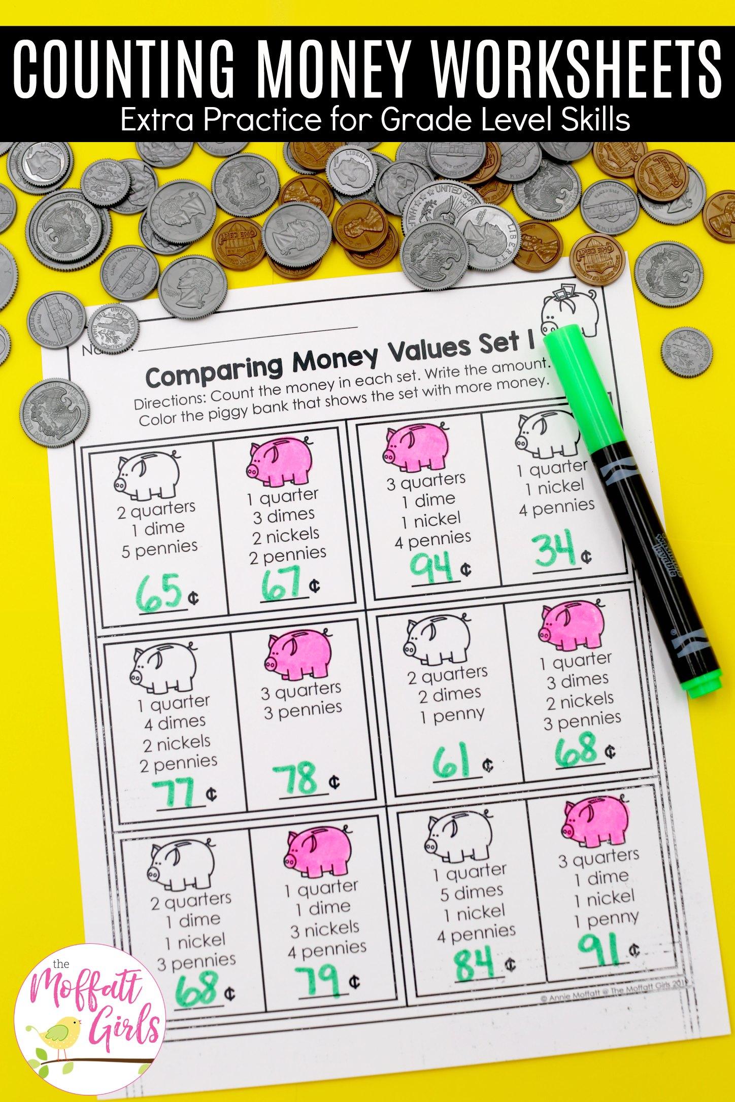 Money Worksheets 2nd Grade 2b