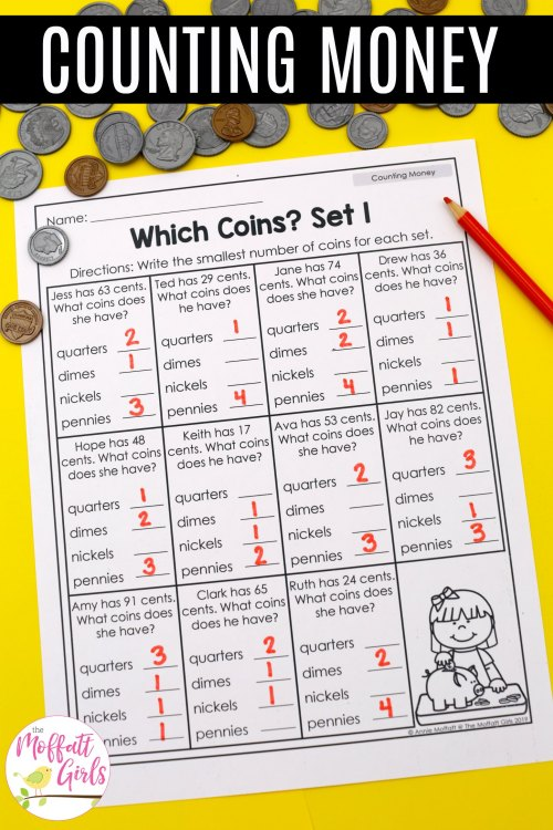 small resolution of Money-Worksheets-2nd-Grade-6B