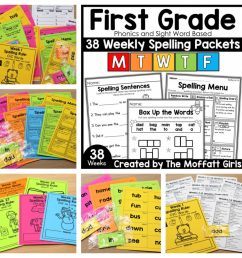 First Grade Spelling Packets (Curriculum) -Fun and Simple! [ 1024 x 1024 Pixel ]