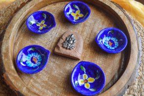 buy blue pottery diyas