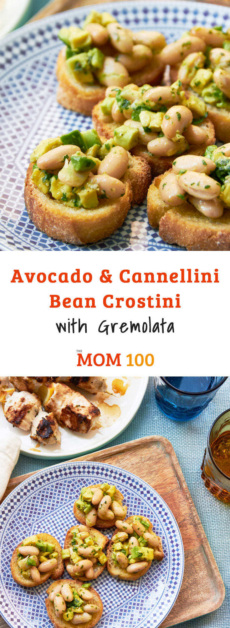 Avocado and Cannellini Bean Crostini are a brilliant way to transform a ripe avocado and a can of beans into an elegant little appetizer.