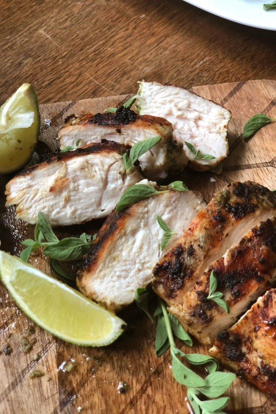 sliced Simple Herbed Grilled Chicken / Katie Workman / themom100.com