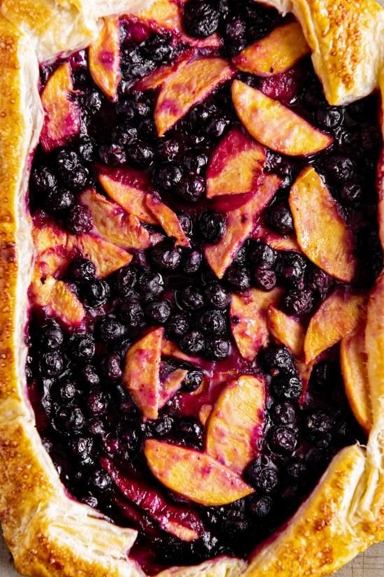Blueberry and Peach Crostada