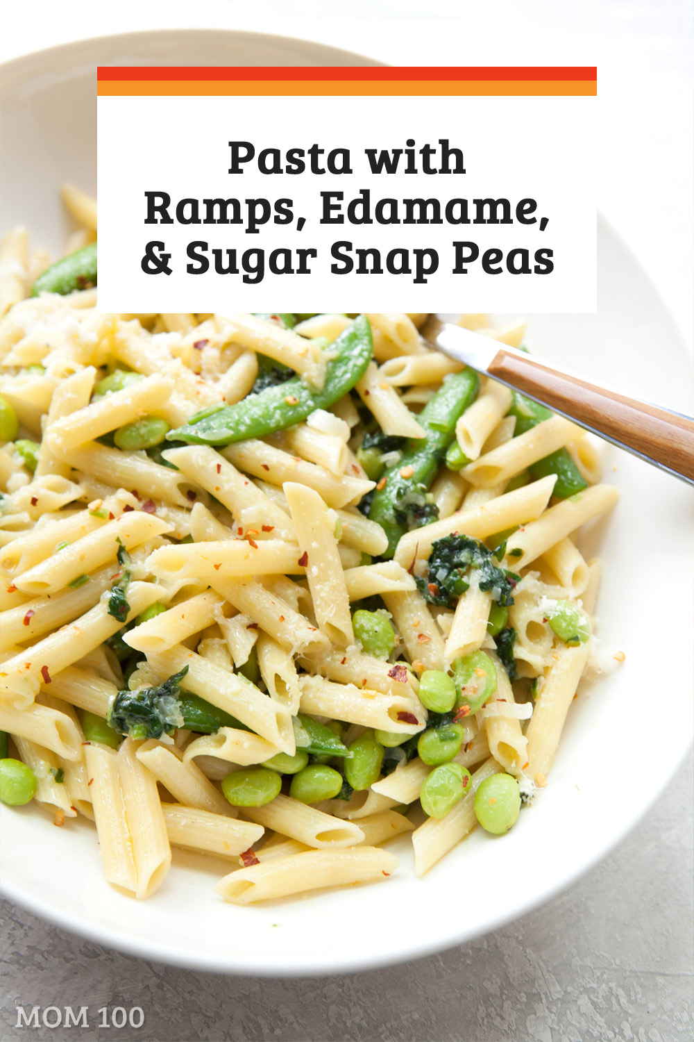 Pasta with Ramps, Edamame, and Sugar Snap Peas: A beautiful, elegant and easy springtime pasta recipe, loaded with ramps and vegetables.