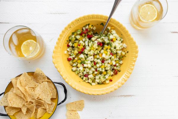 Pineapple Mint Jalapeno Salsa
