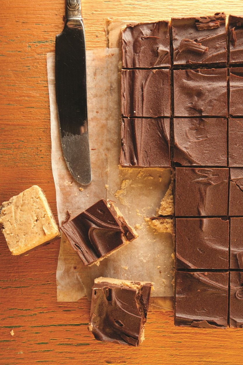 Chocolate Peanut Butter Squares: This recipe channels the amazing of Reese\'s Peanut Butter Cups into pan form!