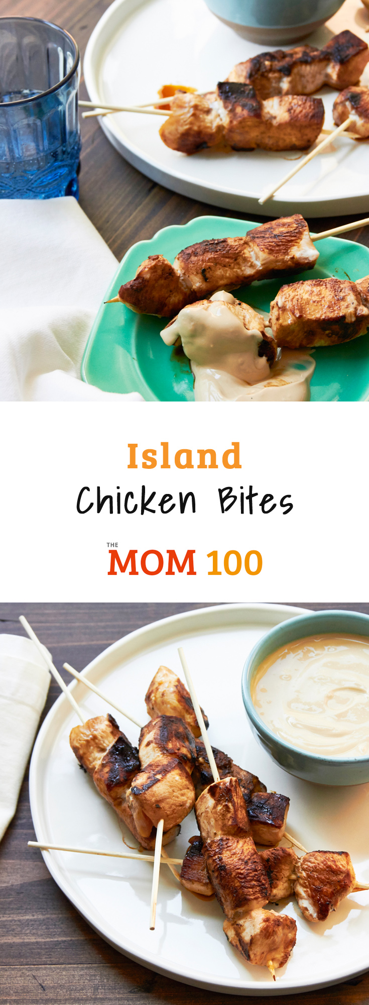 Island Chicken Bites / These chicken skewers have flavors inspired by the West Indies, but no claims to authenticity (said the girl from Manhattan).