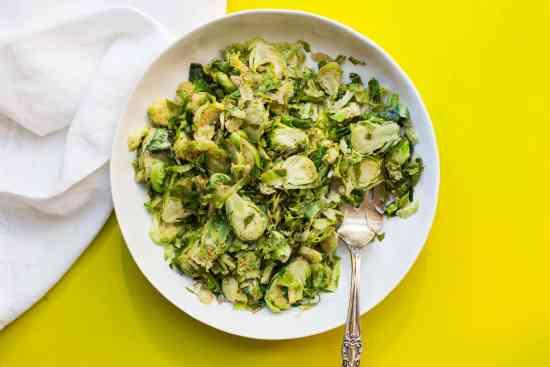 Shredded Brussel Sprouts / Sarah Crowder / Katie Workman / themom100.com