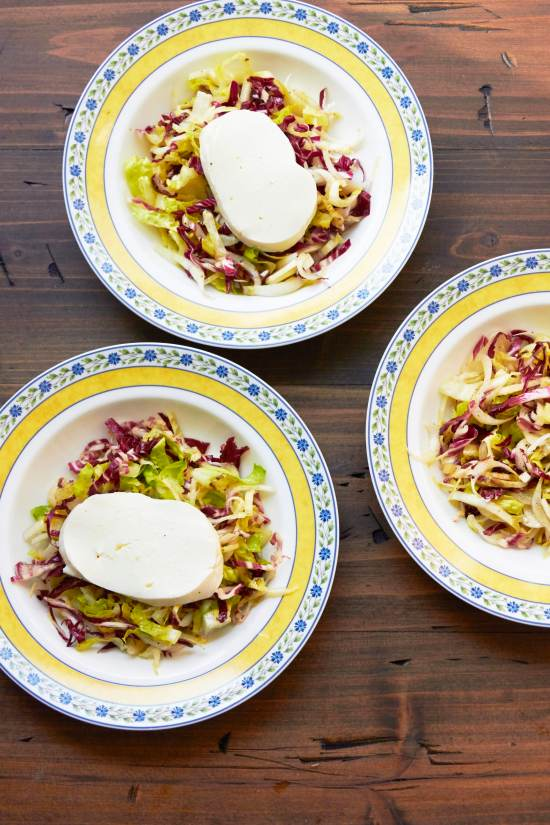 Endive and Radicchio Salad with Fresh Mozzarella / Mia / Katie Workman / themom100.com
