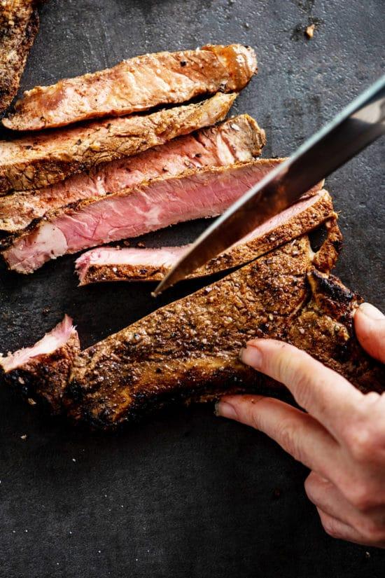 Ribeye Steaks / Katie Workman / themom100.com / Photo by Cheyenne Cohen