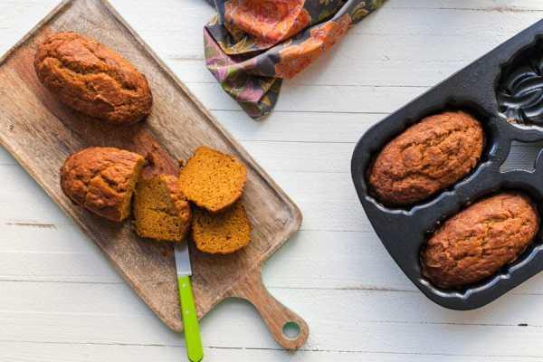 Moist Mini Pumpkin Loaves