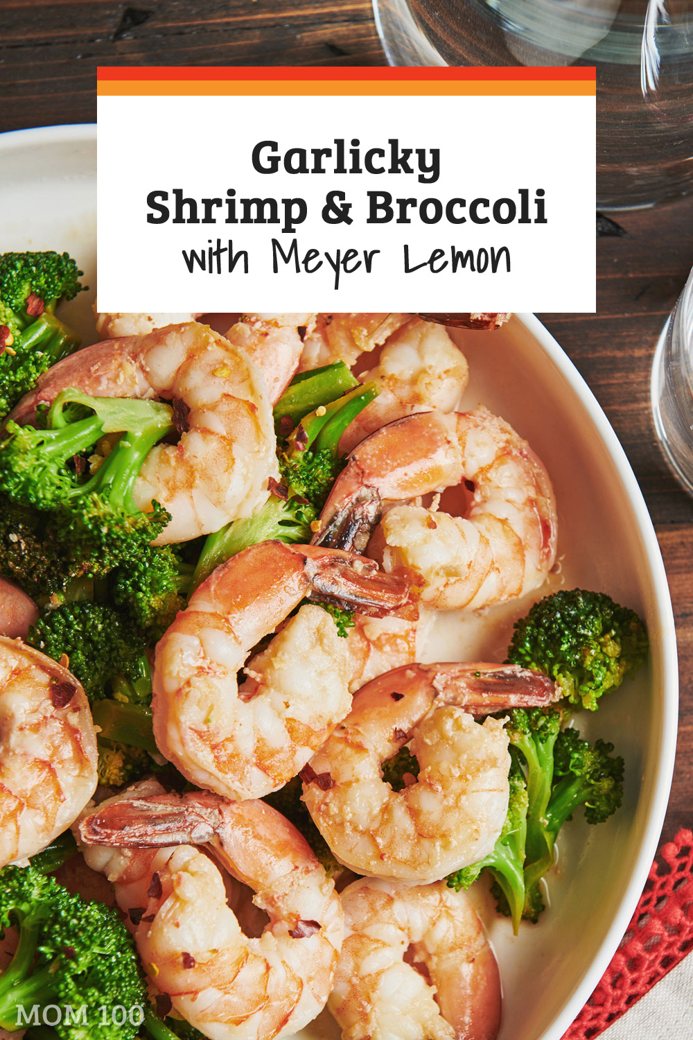 Garlicky Shrimp and Broccoli with Meyer Lemon is a delicious and perfect last-minute (15 mins to the table!) dinner. Serve it with hot rice, quinoa, or pasta.