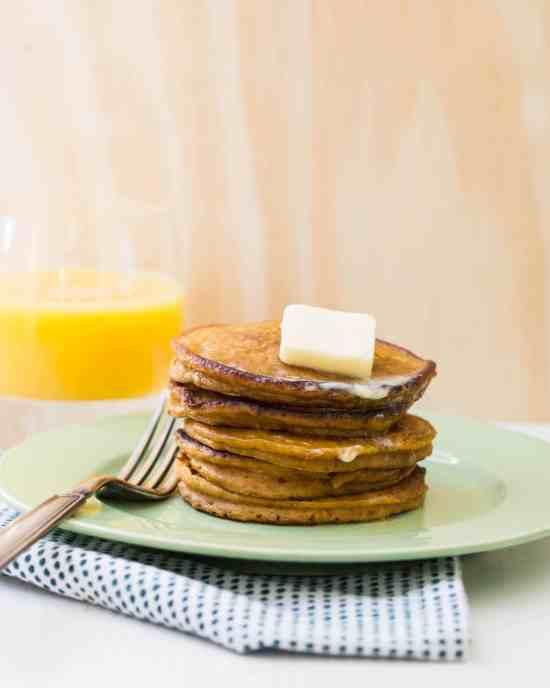 Pumpkin Pancakes / Sarah Crowder / Katie Workman / themom100.com