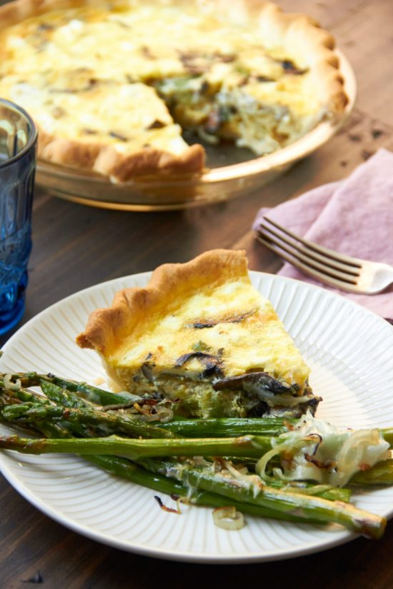 Leek, Mushroom and Goat Cheese Quiche