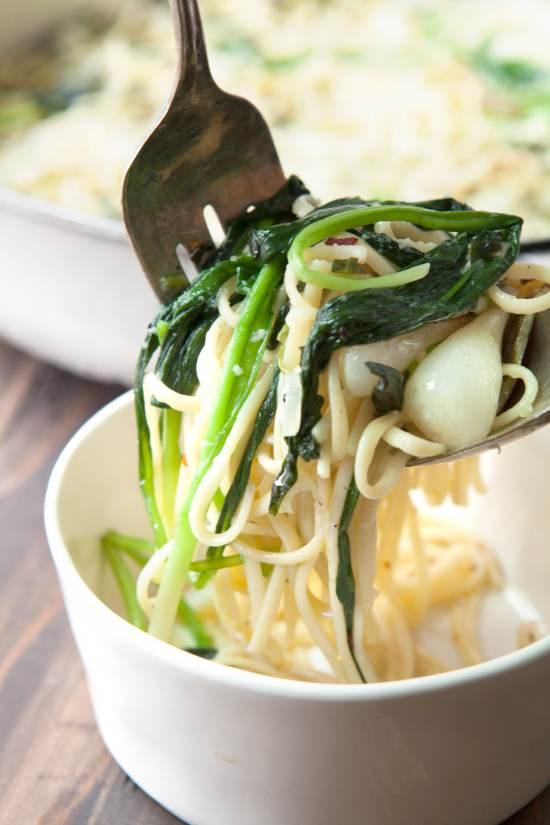 Simple Ramp Pasta / Photo by Kerri Brewer / Katie Workman / themom100.com