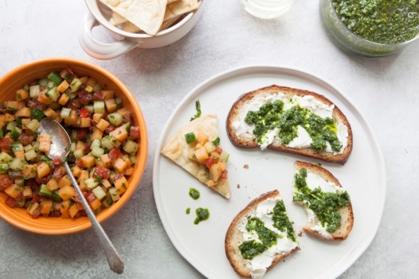 Ramp Chimichurri Sauce / Photo by Kerri Brewer / Katie Workman / themom100.com