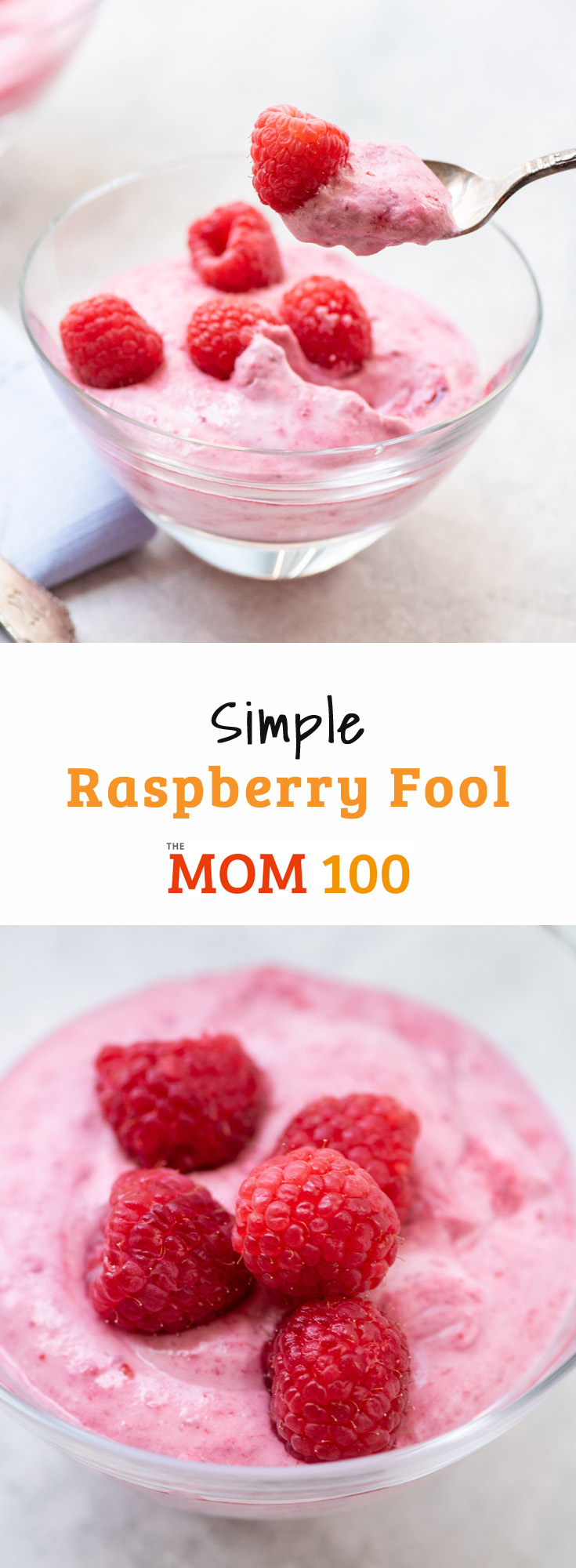 Simple Raspberry Fool: A simple, pretty, 4-ingredient summer dessert that doesn\'t require turning on the oven - now that\'s beautiful.