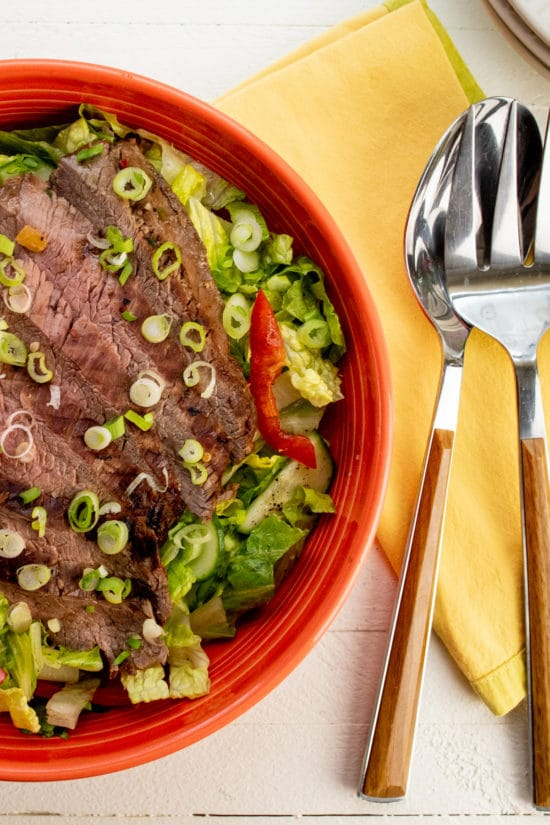 Smoky Sweet Thai Grilled Flank Steak Salad / Photo by Cheyenne Cohen / Katie Workman / themom100.com