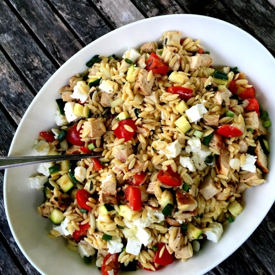 Greek Chicken and Pasta Salad