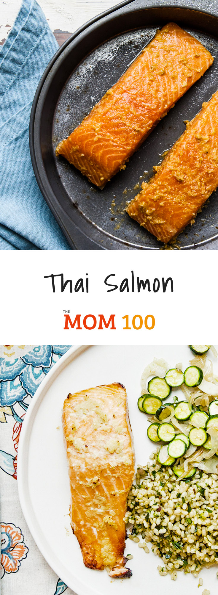 This Thai Salmon is just a simple combo of classic Thai ingredients, poured over some salmon filets. The marinade turns into a beautiful glaze. It\'s one of those dishes that you Just. Can\'t. Stop. Eating. (But doesn\'t leave you overly full.)