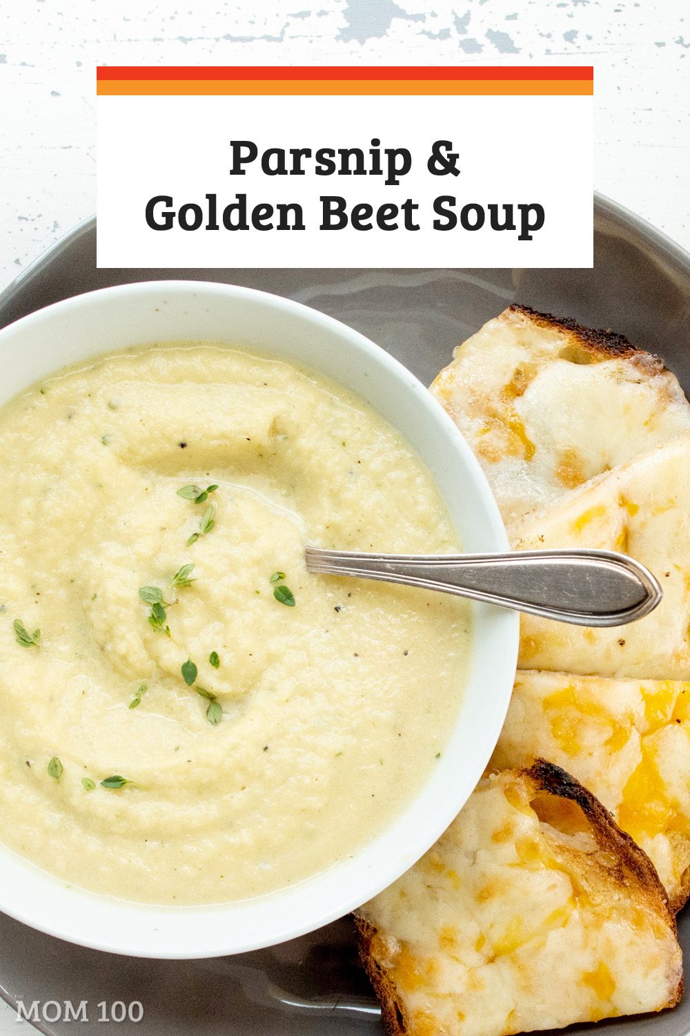 Parsnip and Golden Beet Soup / This beautiful fall soup soup has a rich golden color, and is filled with deep, sweet root vegetable flavor. #soup #vegetarian #gf