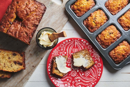 Banana Bread with Chocolate and Crystallized Ginger