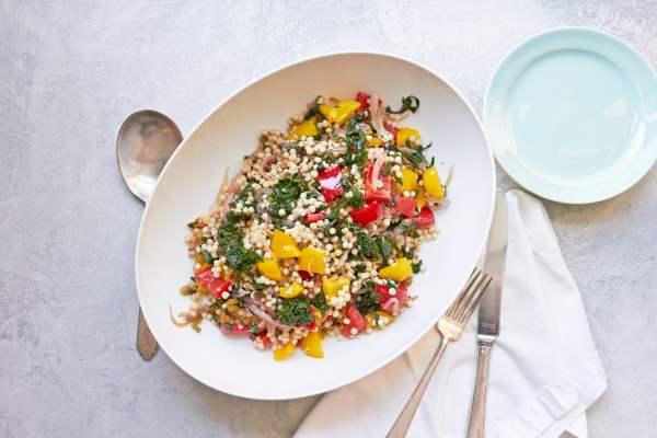 Israeli Couscous Recipe / Mia / Katie Workman / themom100.com