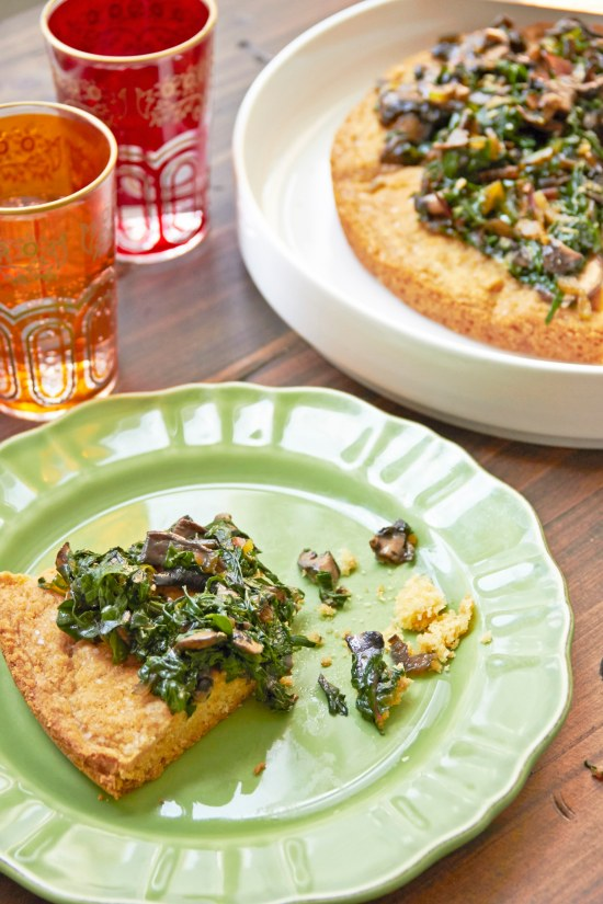 Big Biscuit with Swiss Chard and Mushrooms / Mia / Katie Workman / themom100.com