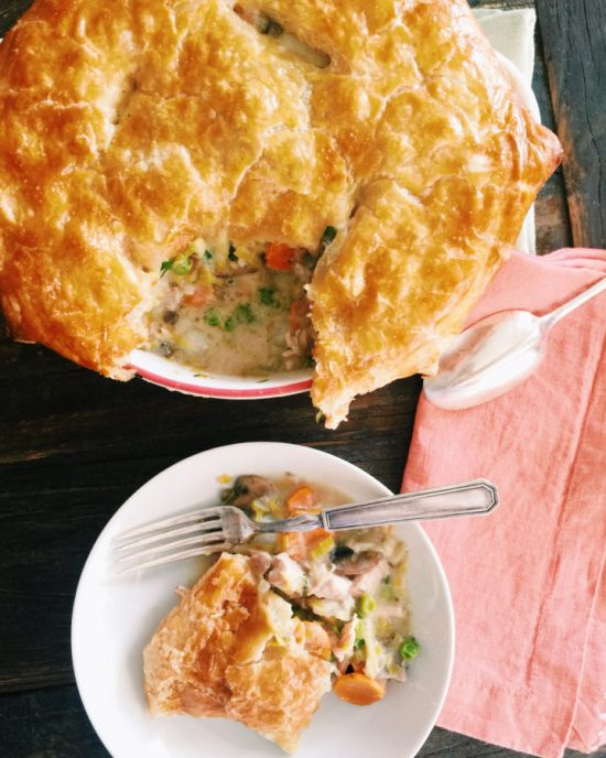 Spring Chicken and Vegetable Pot Pie Casserole / Katie Workman themom100.com