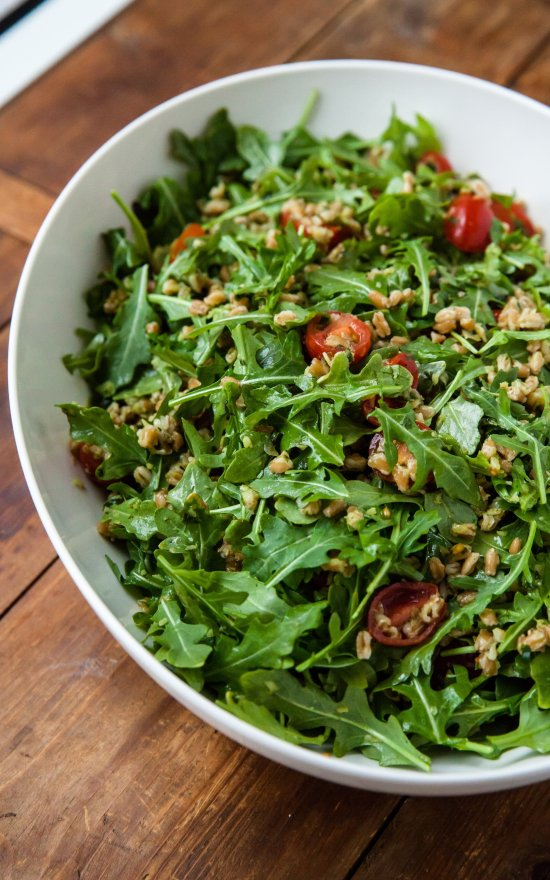 Farro and Tomato Salad / Carrie Crow / Katie Workman / themom100.com