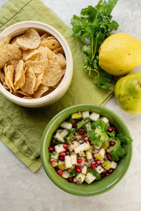Spicy Pear and Cilantro Salsa / Photo by Cheyenne Cohen / Katie Workman / themom100.com