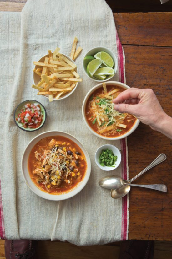 Mexican Tortilla Chicken Soup / Todd Coleman / Katie Workman / themom100.com