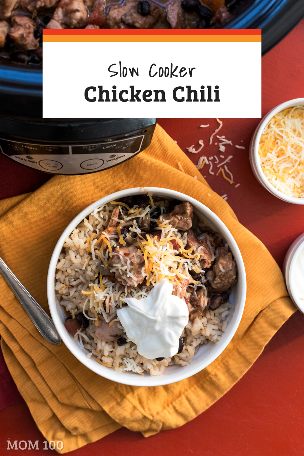 Slow Cooker Chicken Chili: A slow cooker turns juicy chicken thighs and pureed chipotles in adobo sauce into a very satisfying crock pot chicken chili. #slowcooker #instantpot #crockpot