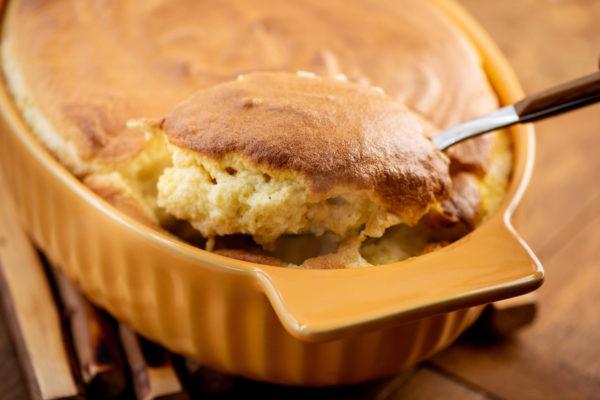Spoonbread Corn Pudding / Photo by Cheyenne Cohen / Katie Workman / themom100.com
