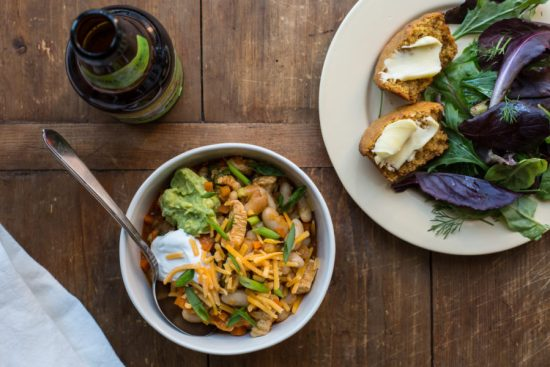 Buffalo Chicken and White Bean Chili / Sarah Crowder / Katie Workman / themom100.com
