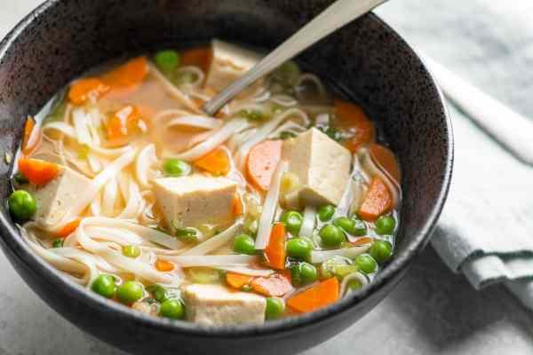 Vegetable Udon Noodle Soup