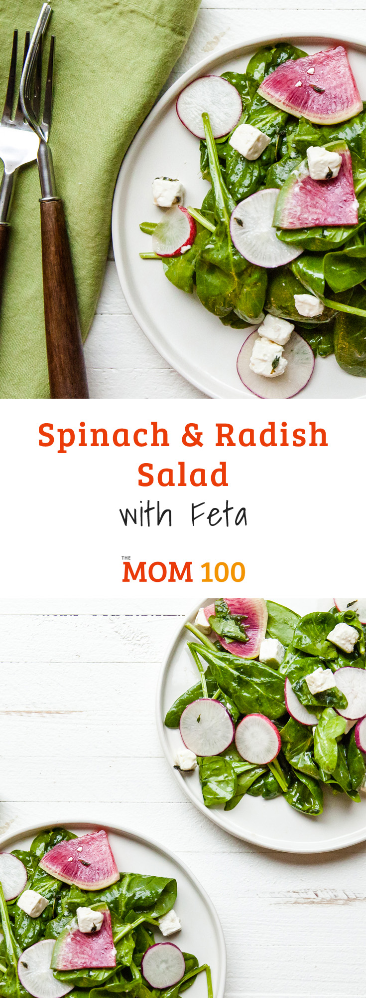 This Spinach and Radish Salad with Feta is just an attractive salad you can turn to time and time again. Pretty and simple.