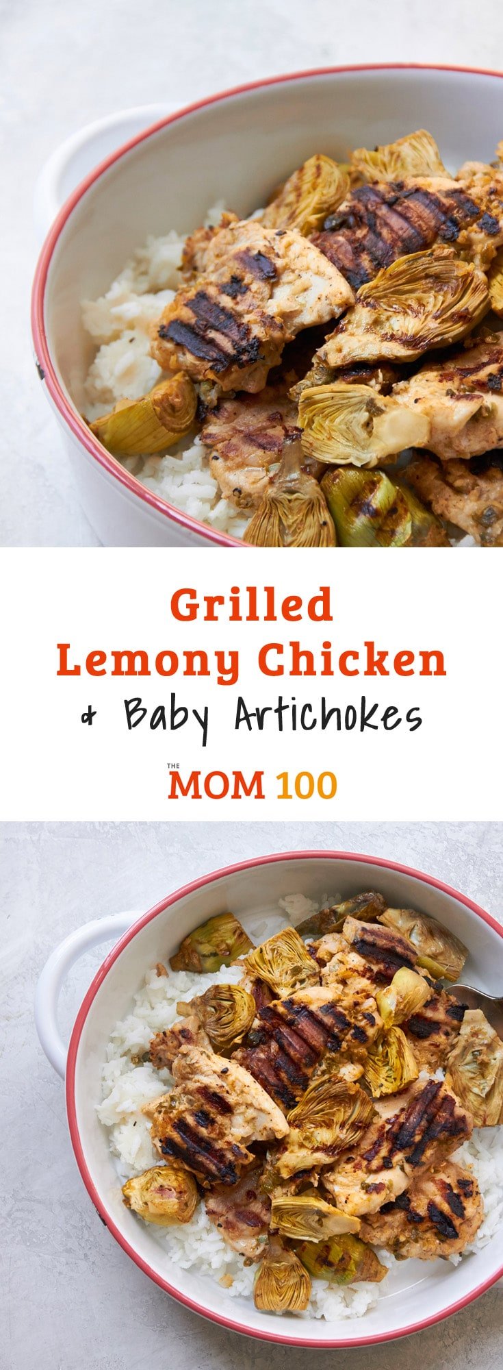 Grilled Lemony Chicken and Baby Artichokes. This grilled chicken shares a super simple citrusy, tangy marinade with tender baby artichokes. Oh, that first grilled meal of the season…that's the real sign of spring.