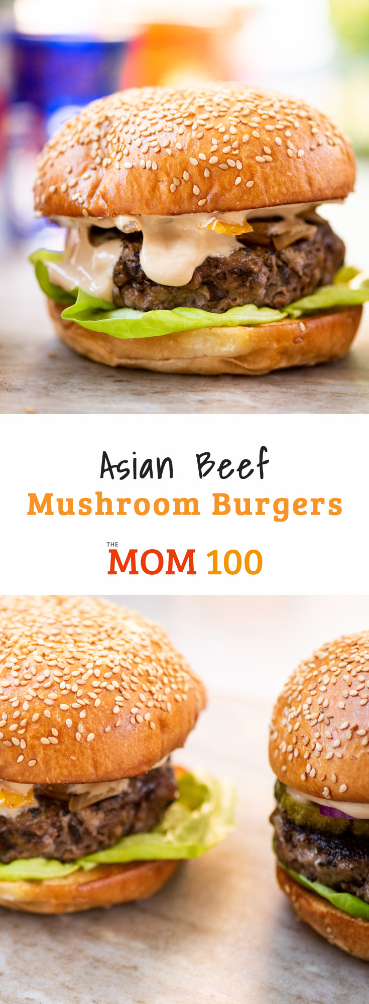When chopped (cooked or raw) mushrooms have a very similar texture to ground meat, and they blend right in to these Asian Beef Mushroom Burgers.