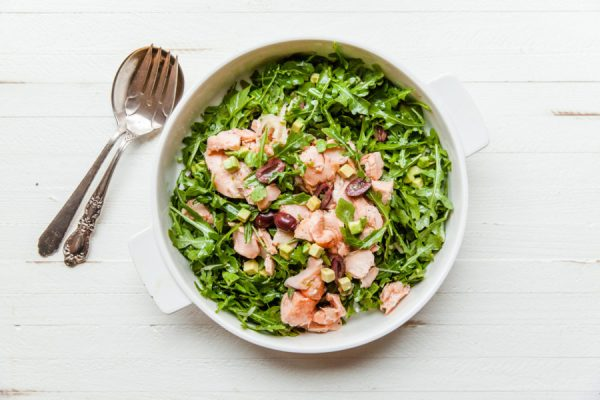 Salmon and Arugula Salad Dressing / Carrie Crow / Katie Workman / themom100.com