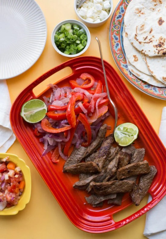 Steak Fajitas / Sarah Crowder / Katie Workman / themom100.com