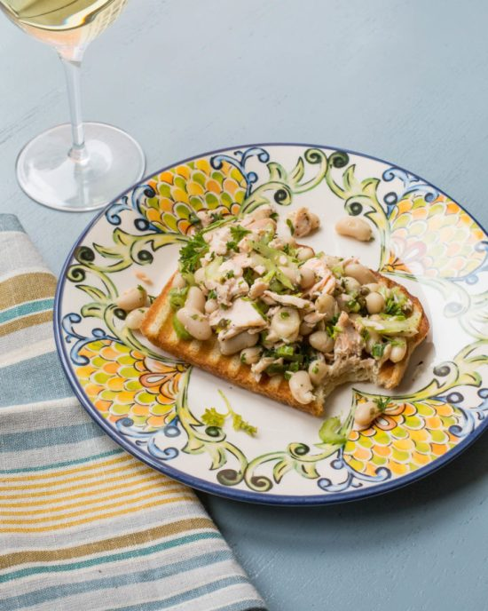 Salmon and White Bean Bruschetta / Sarah Crowder / Katie Workman / themom100.com