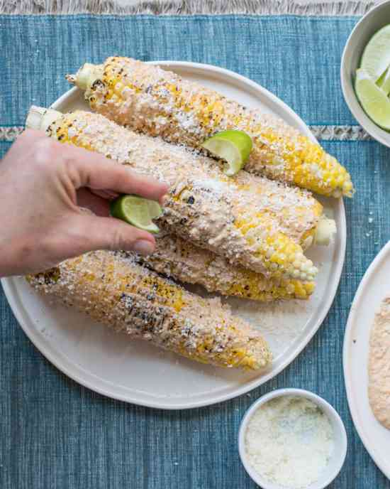 Mexican Grilled Corn / Sarah Crowder / Katie Workman / themom100.com